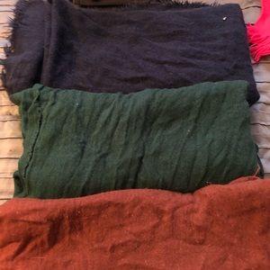 SET OF 3 Forever 21 Blanket Scarves